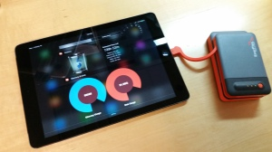 The Lightening connector works perfectly on an iPad Air using iOS8.